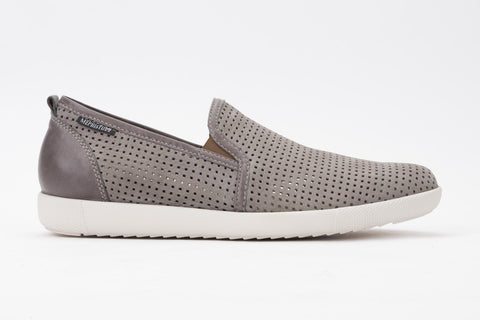 Men's Mephisto Ulrich-Light Grey Sportbuck/Dark Grey Steve 1905/2652 lightweight perforated slip on casual loafer side view
