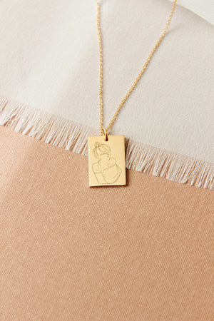Mum Rectangle Necklace