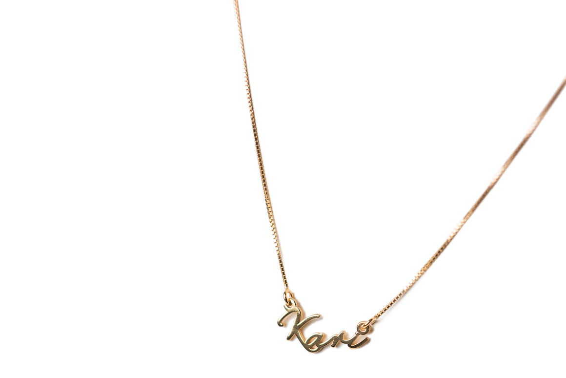 Tiny Signature Name Necklace