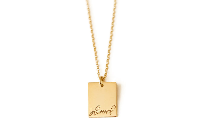 Blessed Rectangle Necklace