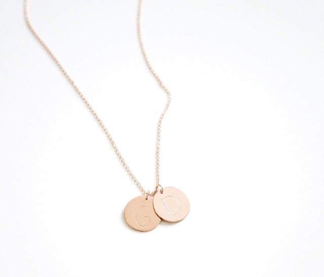 Unity Initial Coins Necklace