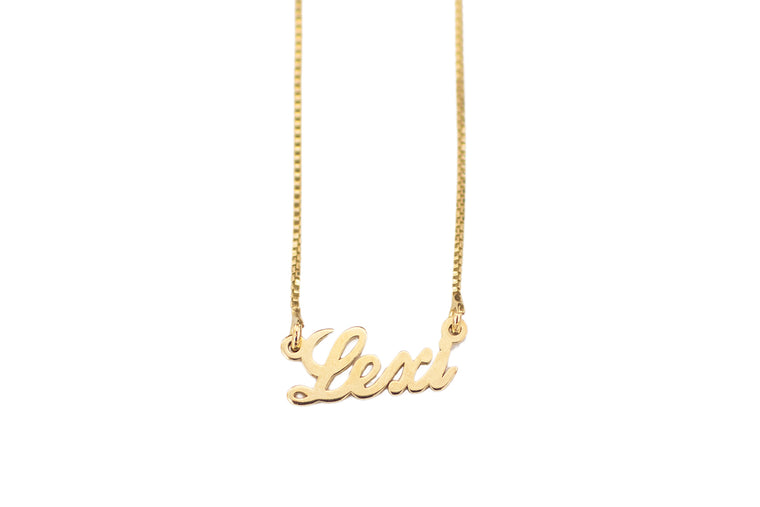 Classic Script Name Necklace