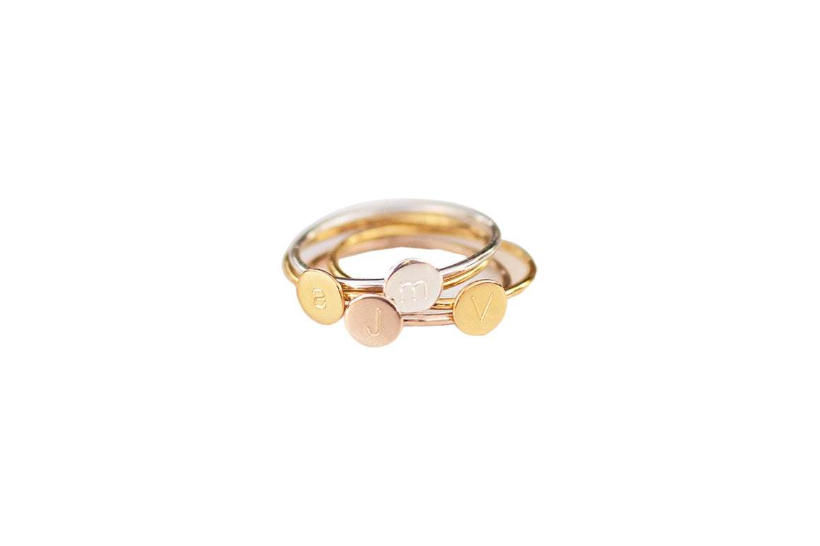 Ever Initial Band Ring