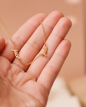 Breezy (tiny) Names Necklace