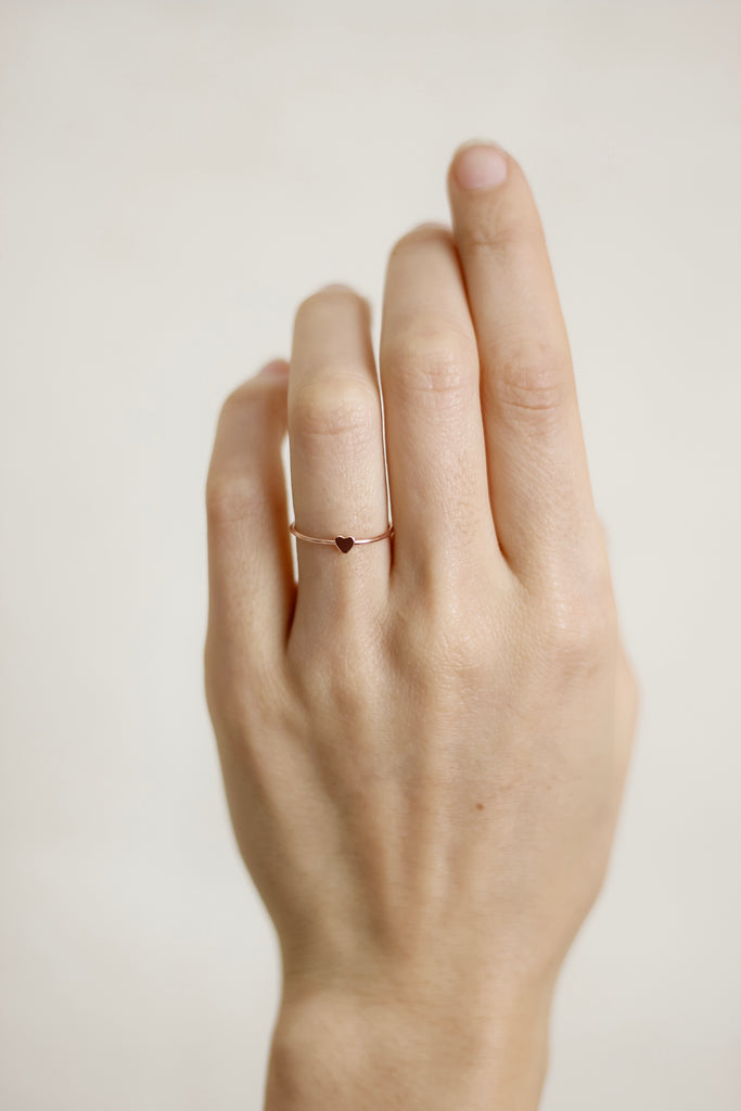 Mini Heart Stackable Ring