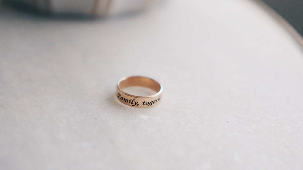 Simple Scripted Band Ring