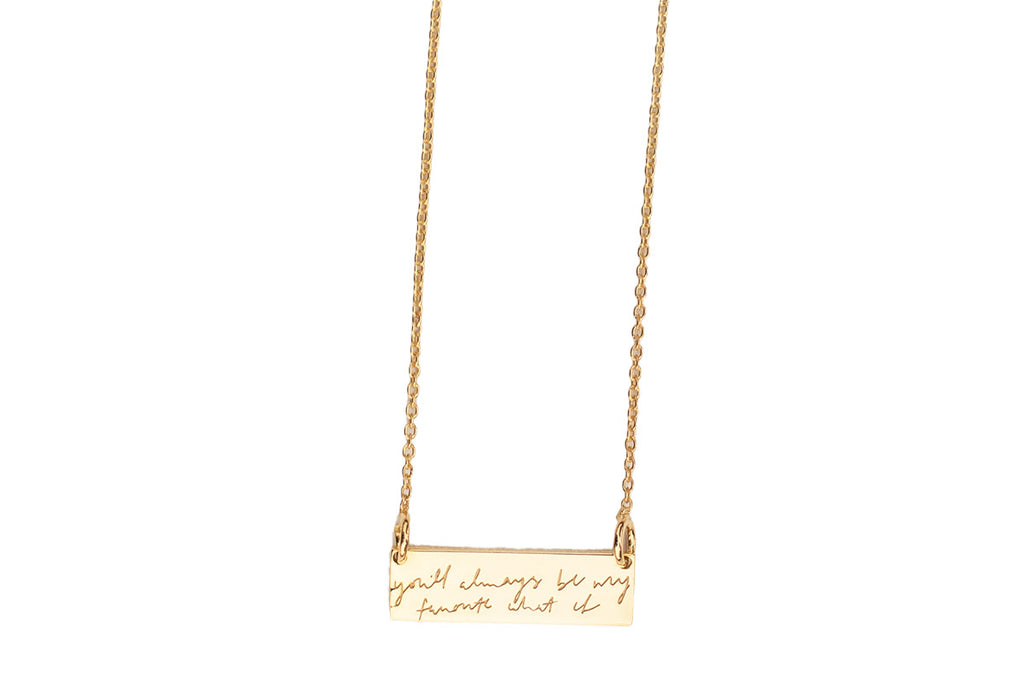 What If Mini Bar Necklace
