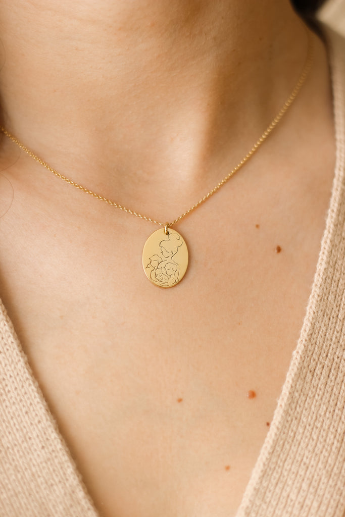 Amma Oval Necklace