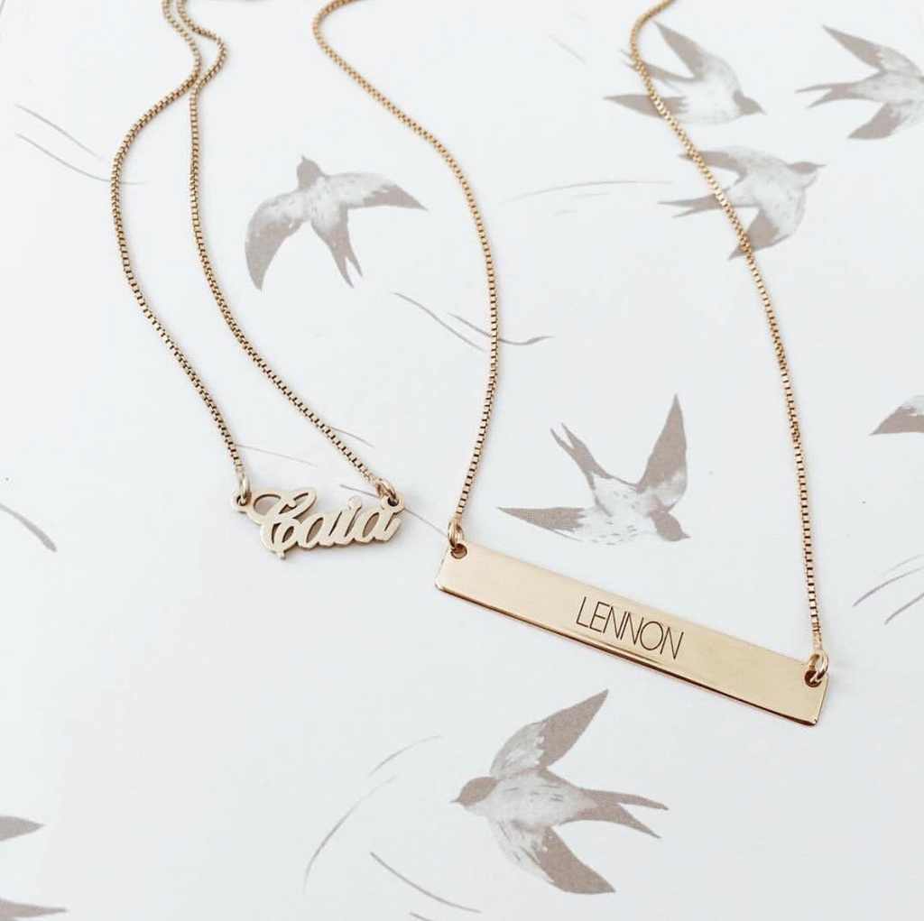 Tiny Name Necklace