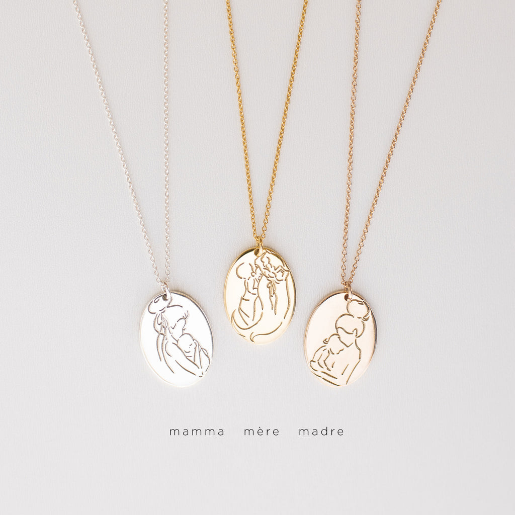 Mama Oval Necklaces