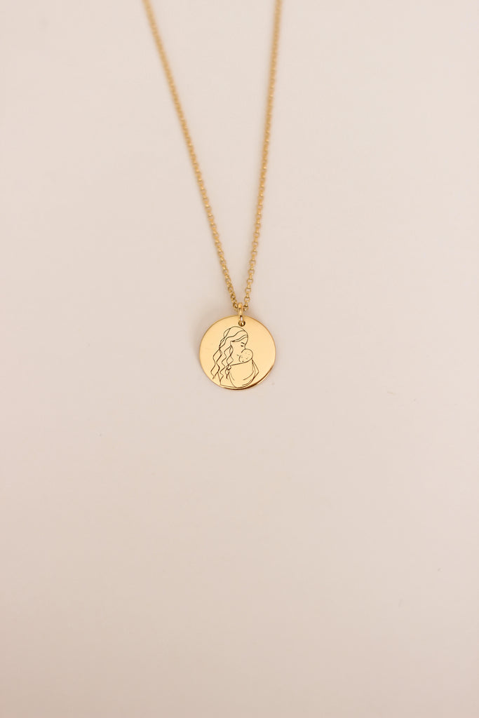 Mother Disc Necklace