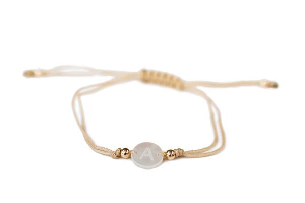 Mother of Pearl Initial Bracelet
