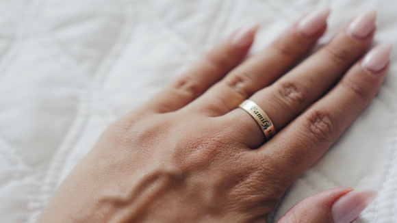 Personalized Simple Scripted Ring