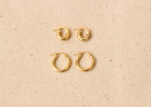 Aurelia Mid Hoop Earrings