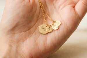 Thankful Disc Necklace