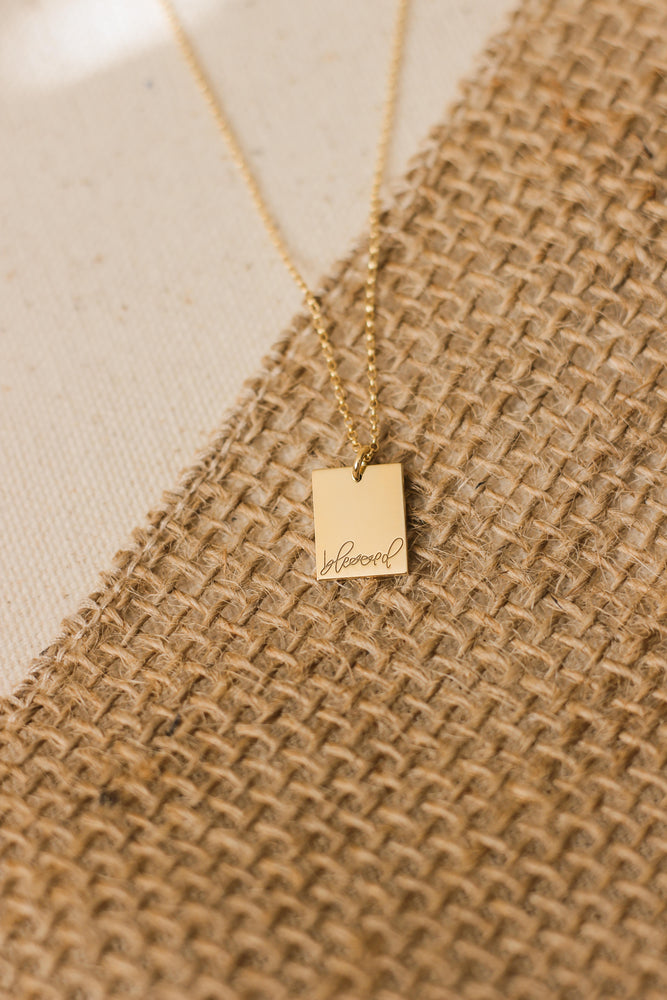 Thankful Rectangle Necklace