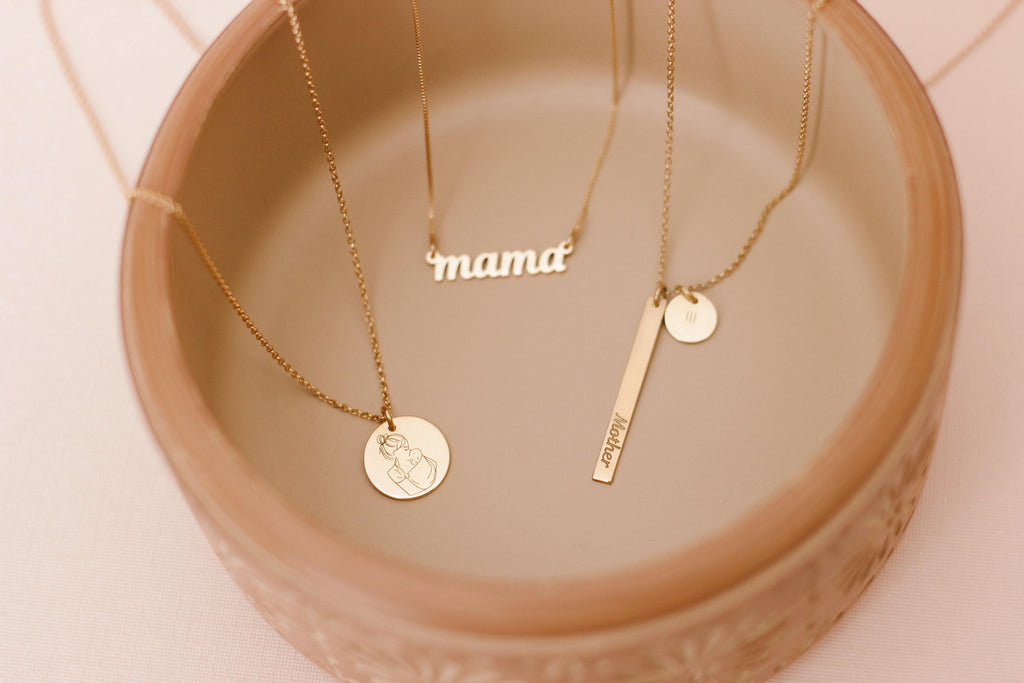 Mum Disc Necklace