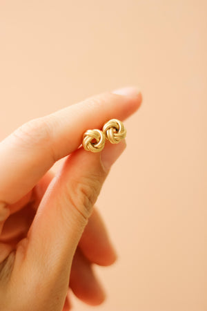 Load image into Gallery viewer, Love Knot Stud Earrings