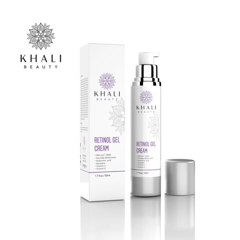 Khali Beauty Retinol Moisturizer Gel Cream for Face and Eye Area 1.7oz