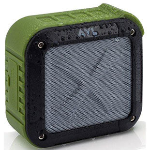 AYL Soundfit Portable Outdoor and Shower Bluetooth Speaker, Water Resistant, Wireless with 10 Hour Rechargeable Battery Life, Powerful Audio Driver, Pairs with All Bluetooth Devices (Black)
