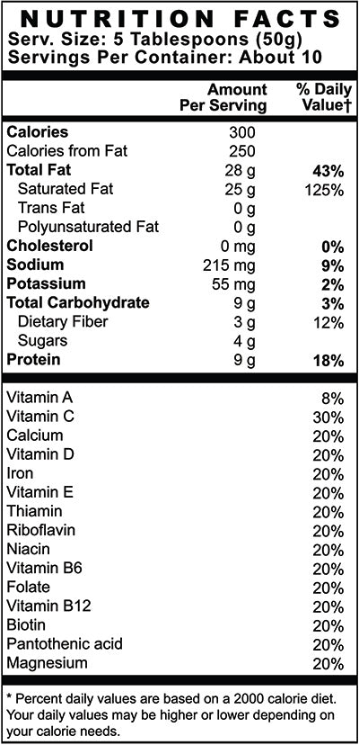 Keto Meal Supplement Facts