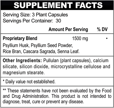 Super Fiber Supplement Facts
