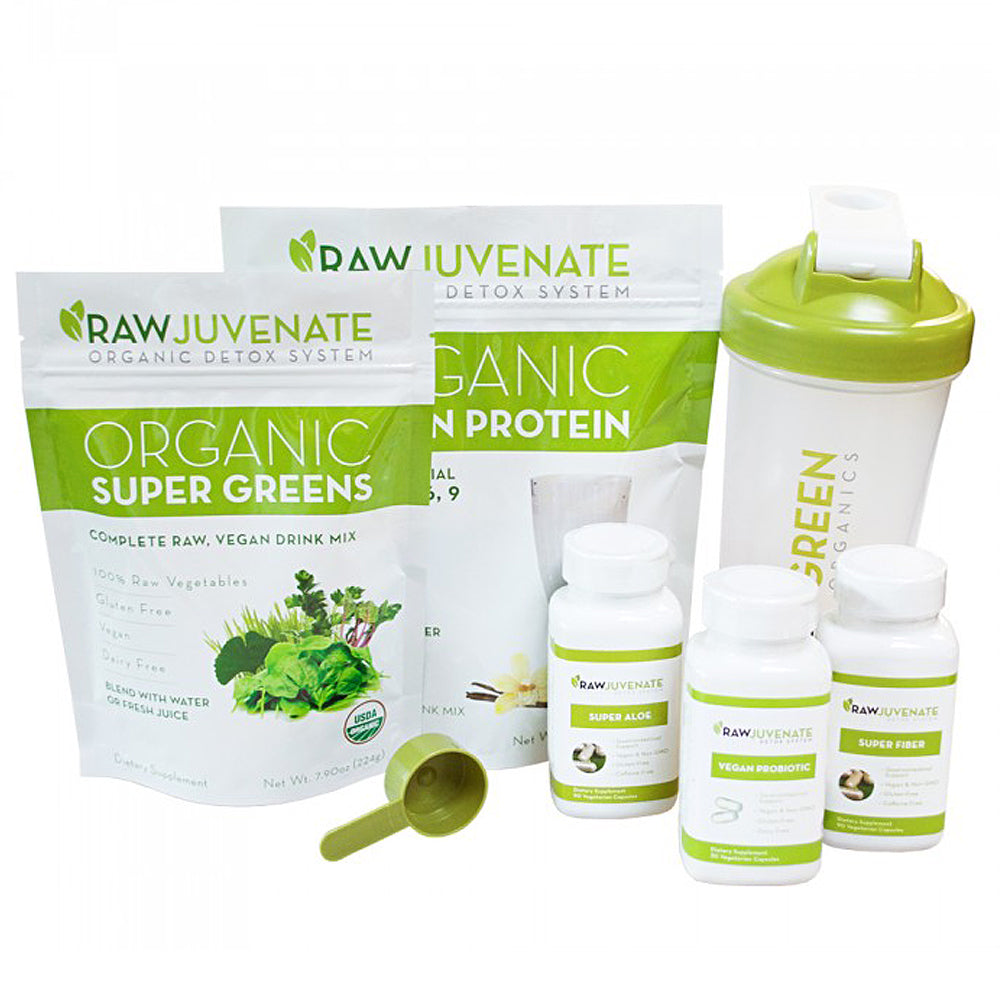 RAWJuvenate Complete Detox | 4 Week System + Bottle