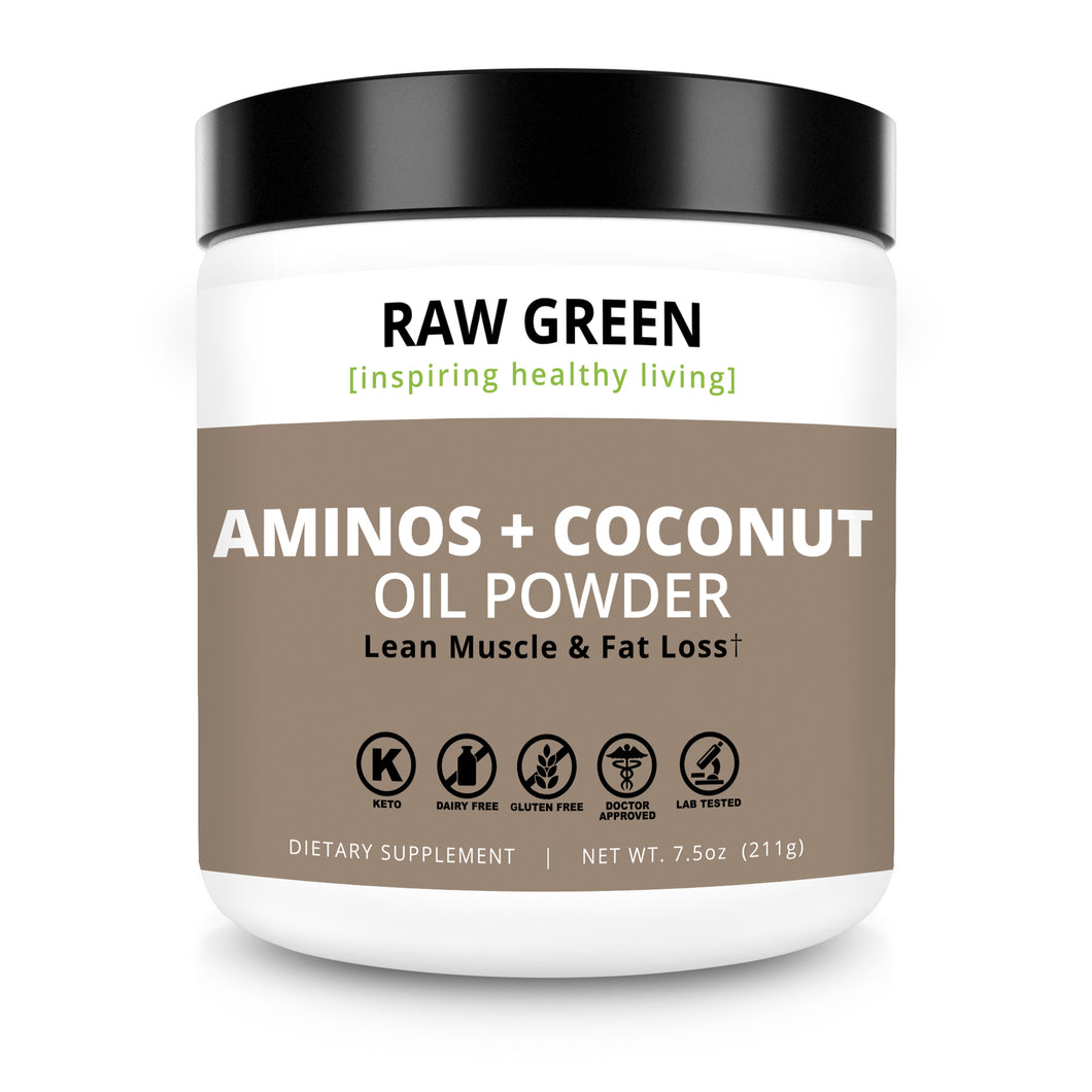 Aminos + Coconut Oil (PRE/POST WORKOUT)  Pre-order available 10/15/18