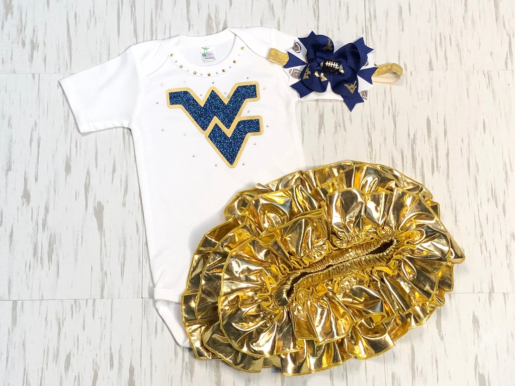 West Virginia Mountaineers - Paisley Bows