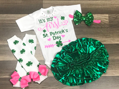 It's My First St. Patrick's Day - Paisley Bows