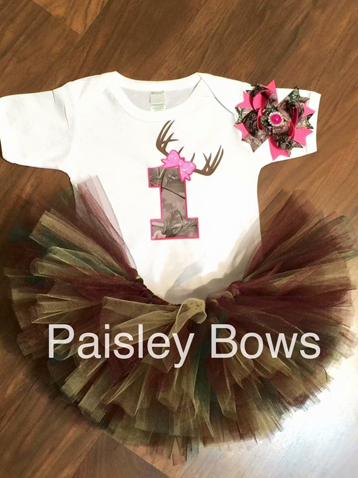 Camo tutu and bow only - Paisley Bows