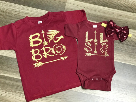 Big Brother and Little Sister Outfits - Paisley Bows