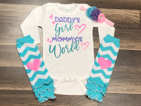 Daddy's Girl Mommy's World - Paisley Bows