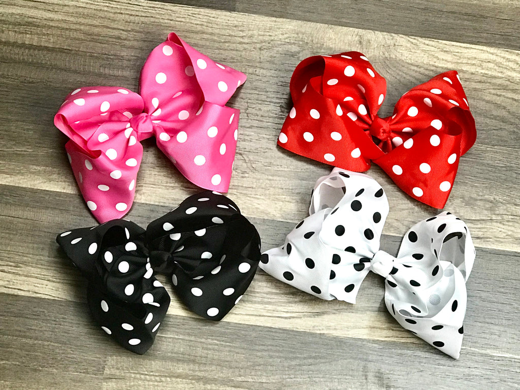 8 Inch Boutique Hair Bow - Paisley Bows
