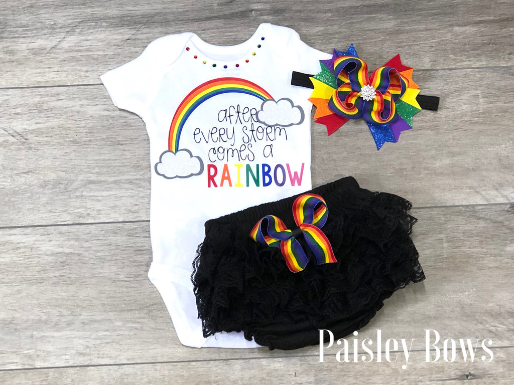 After Every Storm Comes A Rainbow - Paisley Bows