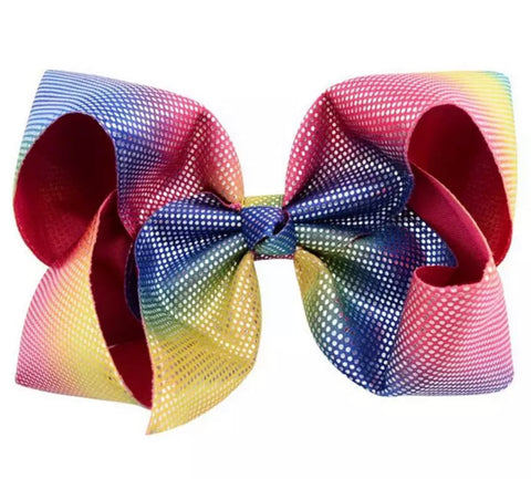Metallic Hair Bow - Paisley Bows