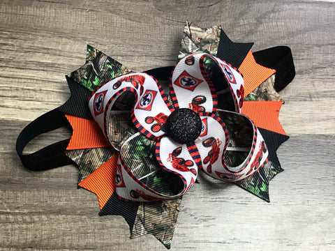 Allis Chalmers Bow Or Headband - Paisley Bows
