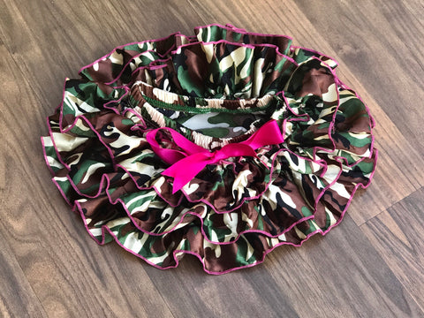 Camo Skirted Bloomers - Paisley Bows