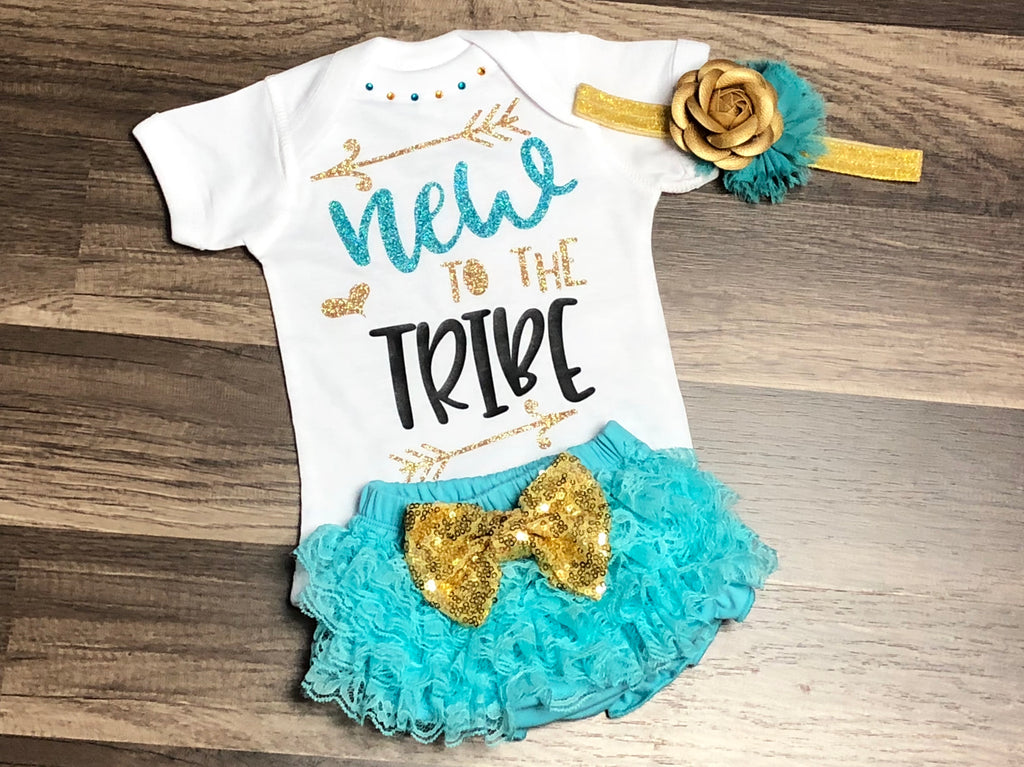 Newborn New To The Tribe - Paisley Bows