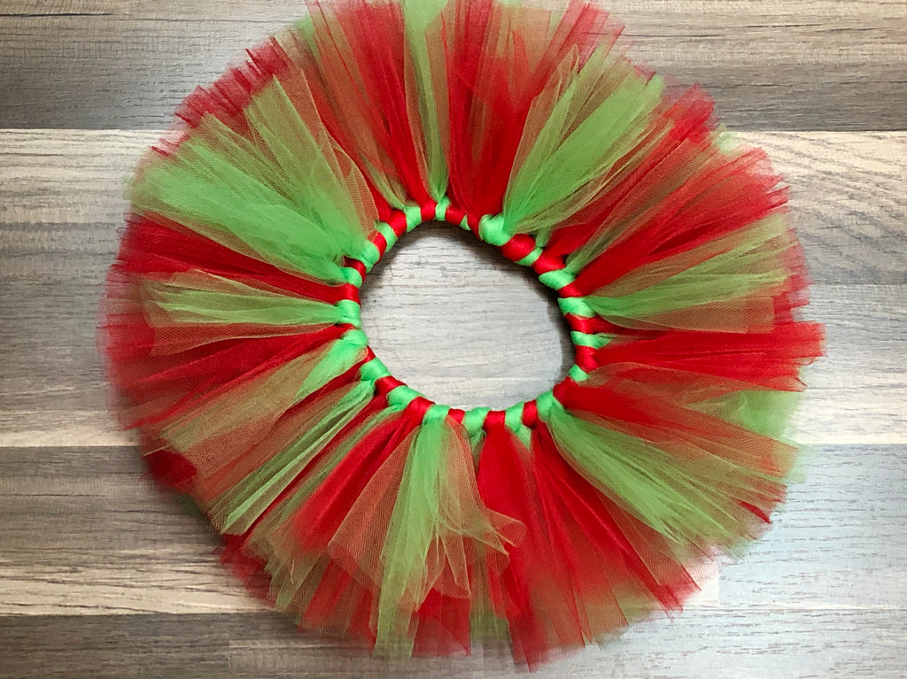 Red and Green Christmas Tutu - Paisley Bows