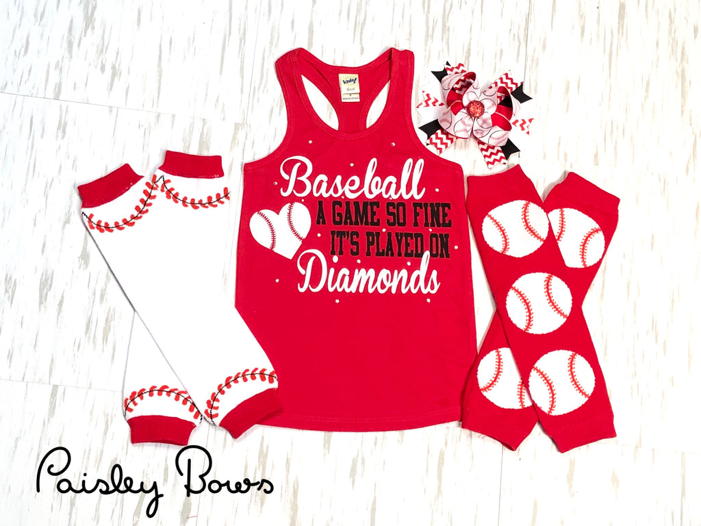 Baseball A Game So Fine - Paisley Bows