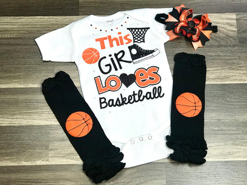 This Girl Loves Basketball - Paisley Bows