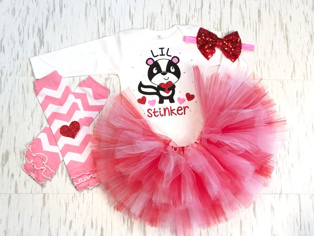 Little Stinker Tutu Outfit - Paisley Bows