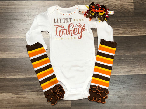 Little Turkey Top or Outfit - Paisley Bows