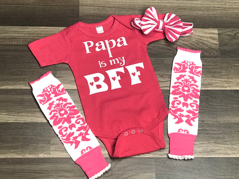 Papa is my BFF - Paisley Bows
