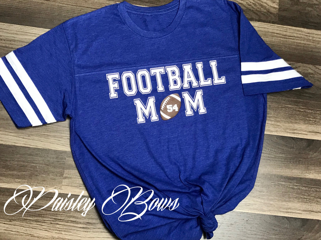 90725467a738 Customizable Football Mom Shirt – Paisley Bows