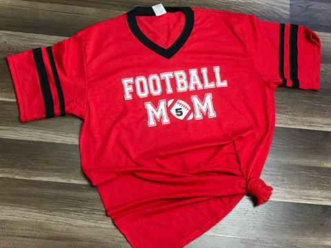 Customizable Football Mom Shirt - Paisley Bows