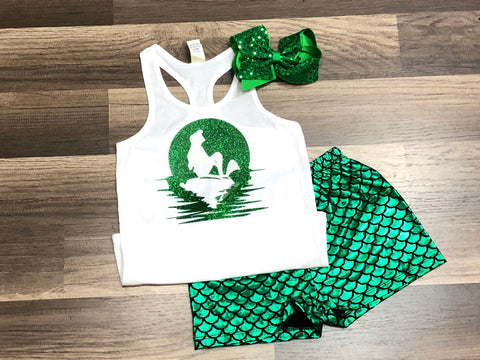 Ariel Mermaid Tank Top Or Outfit - Paisley Bows