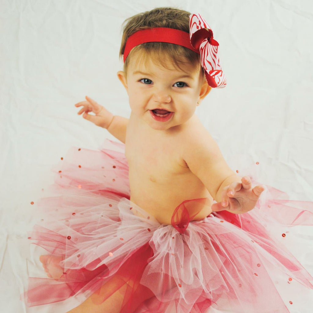 Red and White sequin tutu
