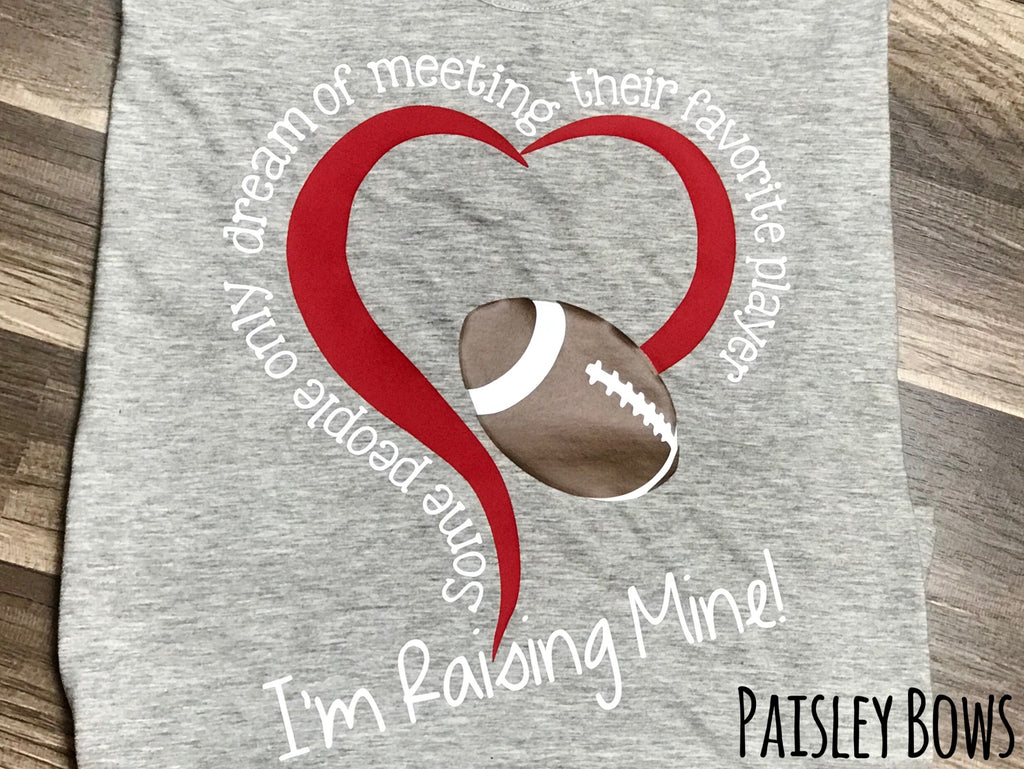 Football Mom Tank Top Or Shirt - Paisley Bows